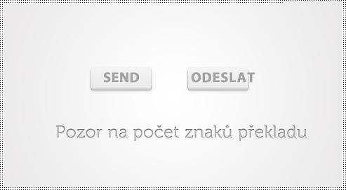 překlad tlačítek na www stránce