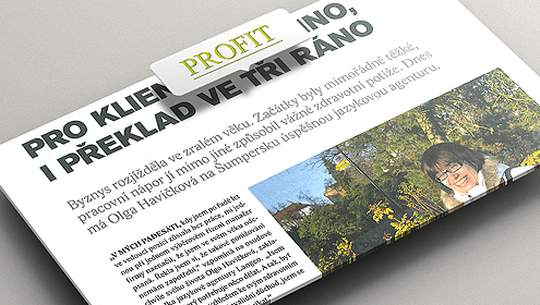 Článek o LANGEO v časopisu Profit