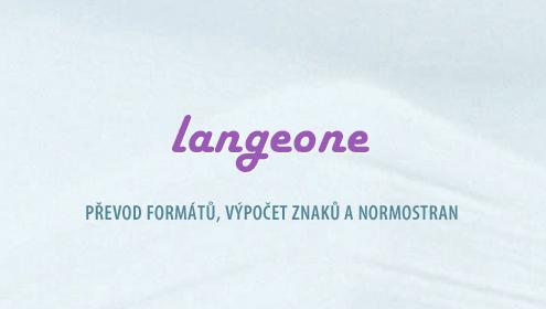 LANGEONE - převod z PDF do Wordu