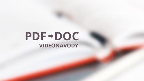 Převod PDF do DOC