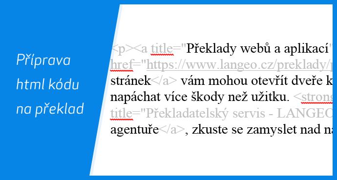 Příprava html kódu na překlad